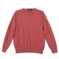 J. Crew Pullover Cotton Sweater Mens Size XL Red Pink Long Sleeve Crew
