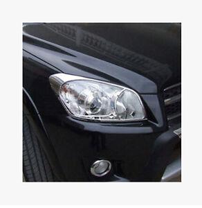 For Toyota RAV4 2006 - 2012 ABS Chrome Front Head Light Lamp Cover molding Trim