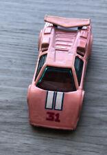 Hot Wheels 1987 Lamborghini Vintage 1:64 Pink Diecast Car