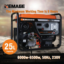 KEMAGE 6.5kVA Max 6kVA  Rated Generator Portable Camping Petrol Single Phase