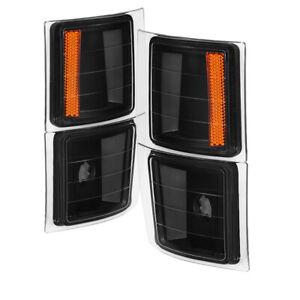 Xtune for Chevy Suburban 94-98 4 pcs Corner Lights Black CCL-JH-CCK88-BK-AM - sp