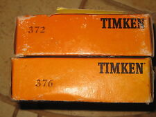 """TIMKEN TAPERED ROLLER BEARING & CUP PART# 376 & PART# 372 """"NEW OLD STOCK"""""""