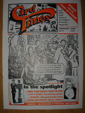 CARD TIMES MAGAZINE FORMERLY CIGARETTE CARD MONTHLY No 75 FEBRUARY 1996