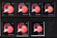 #4853, 4854, 4855, 4868, 4869, 4870 & 4871 2014 Star Spangled Banner set/7 - MNH