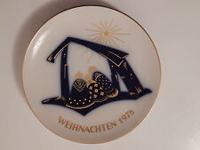 DEKORATIVER  KPM BERLIN  WEIHNACHTSTELLER  1978  JAHRESTELLER  KPM  BERLIN !!!