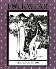 Folkwear Vietnamese Ao Dai Flowing Tunic & Wide-leg Pants Sewing Pattern # 139