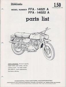 1960's Benelli & Wards 175cc 2-stroke NOS factory illustrated parts list