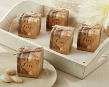 1 x sample 'Rustic Hearts in Love' vintage wedding favour box- new