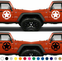 Set of 2 America US U.S. Army Star Vinyl Decal Sticker Armed Forces V6