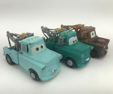 Disney Pixar Cars BLUE & Brown Rusty TOW MATER Diecast & Plastic 1:55 lot of 3