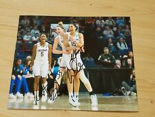 Katie Lou Samuelson and Gabby William's signed Uconn Huskies 8 x 10 photo