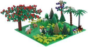 401tlg großes Landschaft Set mit Bodenplatte für z.B. Lego® City Cobi® Sluban®