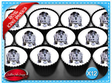 Star Wars R2D2 Edible Image Icing Birthday Cupcake Cake Decoration Party Toppers