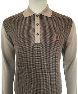 Trojan Textured Front Polo TR/8458 Camel
