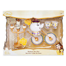 NEW! Disney Store Beauty and the Beast Deluxe Singing Tea Set Mrs Potts Chip HTF