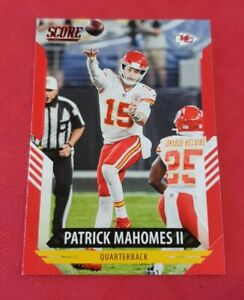 2021 Score Football Parrick Mahomes II Red Parallel