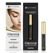 HENNA SENSITIVE Henna do Brwi One-component Eyebrow Henna Applicator Black 6ml
