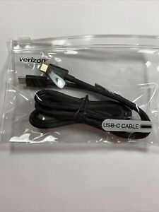 ⚡ Verizon OEM Braided USB-C to USB-C Type C Charge and Sync Cable, Black - NEW ⚡