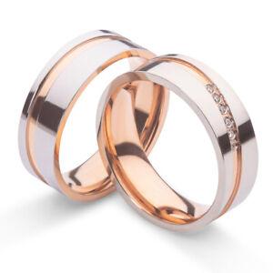 Verlobungsringe Freundschaftsringe Trauringe Eheringe Silber Rosegold Gravur