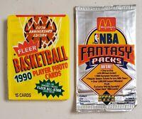 Upper Deck & Fleer Basketball Lot of 2 (Two) New Unopened Sealed Packs