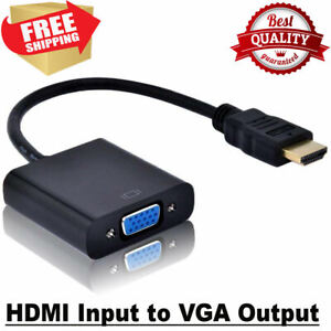 HDMI Male IN to SVGA VGA Female OUT Converter Cable Adapter Black for PC DVR TV