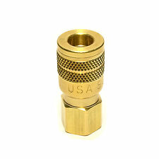 Foster Solid Brass Quick Coupler Air Hose Connector Fittings 1/4 Npt Tool Plug