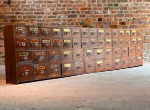 Antique Apothecary Chest of Drawers Chemist Pharmacy Victorian Circa 1870.