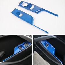 Blue 2pcs car windows shift panel frame trim ABS for Camaro 2017 UP Accessories