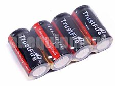 Trustfire 16340 RCR123 3.7v Rechargeable Protected PCB Battery x4