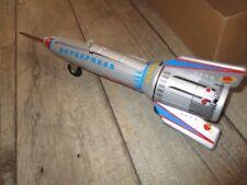 Ancienne fusée spatiale en tole-Boite d origine-neuve-système impeccable(1970)
