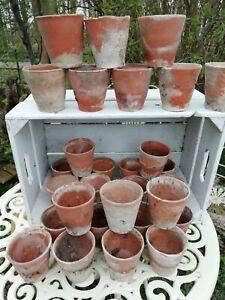 Antique Victorian Hand Thrown Terracotta Garden Seed Flower Plant Pot