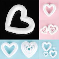 DIY White Foam Heart-shaped Polystyrene Styrofoam Modelling Craft Ball Xmas Gift