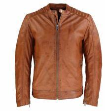Lederjacke Herren Lammnappa Lederjacke Echtleder Real Leather Jacket XL cognac