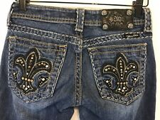 Women's Miss Me Rhinestone Stud Embellished BootCut Jeans Size 25 JY5075B