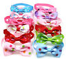 Pet Puppy Dog Cat Bow Ties Adjustable Bowties Mix Styles Ribbon Dog Ties