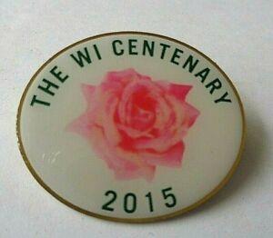 WOMENS INSTITUTE THE W.I. CENTENARY 2015  LAPEL  BADGE