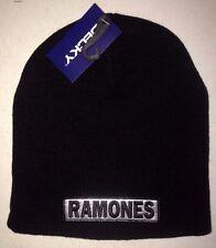 THE RAMONES SILVER CLASSIC LOGO LICENSED BEANIE CAP PUNK ROCK  NEW! t-shirt