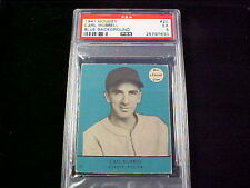1941 Goudey #20 Carl Hubbell Giants-Pitcher PSA-5 EX  Blue Background