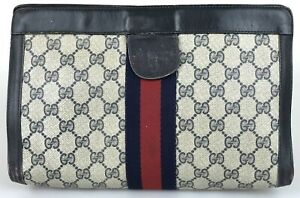100% authentic Gucci sherry line clutch bag used 1235-3-e@1