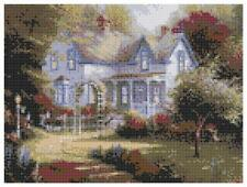 Country Cottage 14 Count Cross Stitch Kit