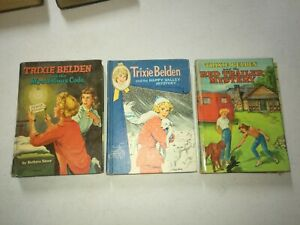 Vintage Trixie Belden BOOK LOT of 3 Mystery & Adventure Stories