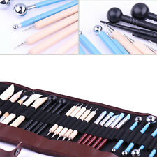 24Pcs/Set Sculpting Tools with Pouch for Polymer Clay Pottery Ceramic Art Craft