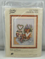 Something Special Teddy and Flowers Counted Cross Stitch Kit #50480 ST183