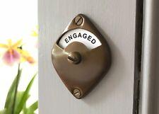 ANTIQUE FINISH VACANT ENGAGED TOILET BATHROOM LOCK BOLT INDICATOR DOOR HANDLES