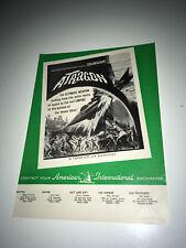 ATRAGON Movie Trade Ad 1963 Japanese Sci-Fi Submarine Ishiro Honda Toho Poster