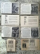 Boy Scout 1960 Program Quarterly Helps Game File Card Suggestion Set From 1960