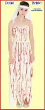 DEAD BRIDE COSTUME Halloween Zombie Grave Corpse Party WOMEN one size 10-14 NEW