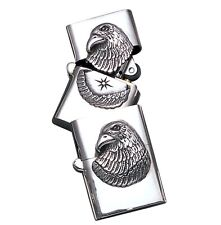 Sterling Silver Eagle Zippo Lighter Case- LTR3