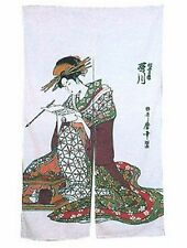 Japanese Noren Doorway Curtain Ukiyoe by Utagawa 33x59in PS103 S-2718