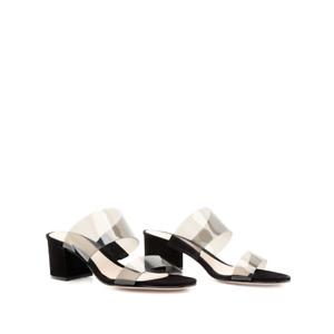 NEW Schutz Women's Black Victorie Slide Sandal size 6.5 M NIB VINYL SUEDE NIB